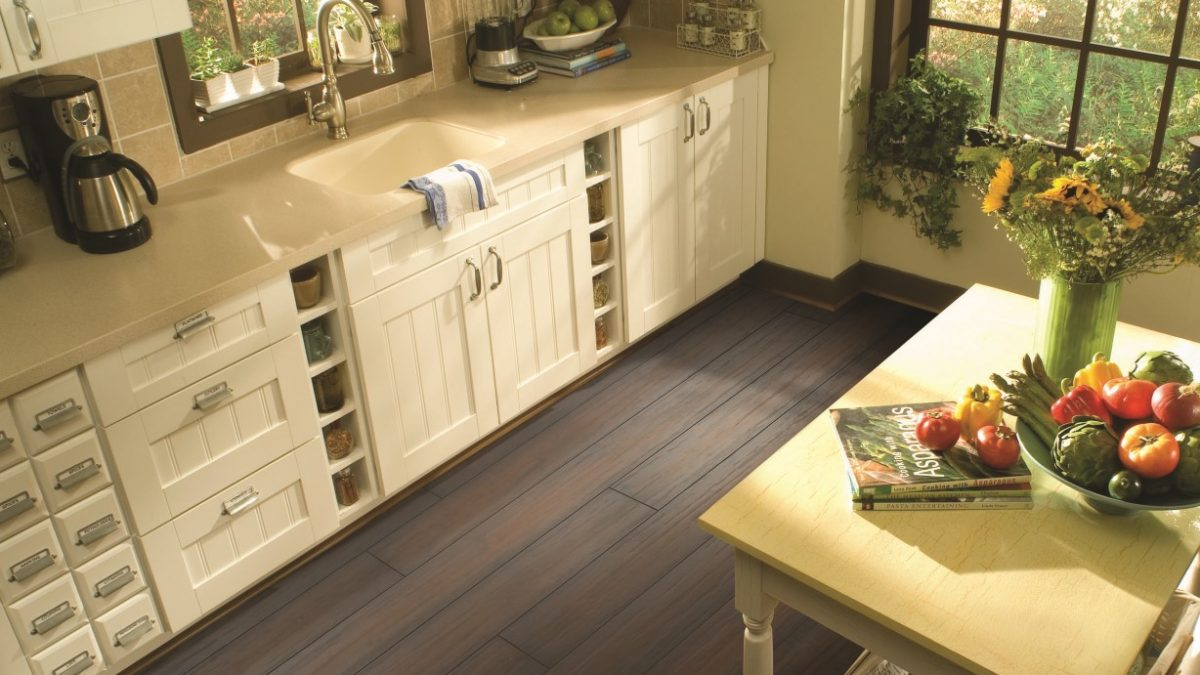 Bourbon Walnut Flooring in classic rustic kitchen