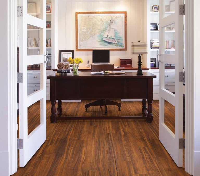 Office with Tahitian Wood Floors