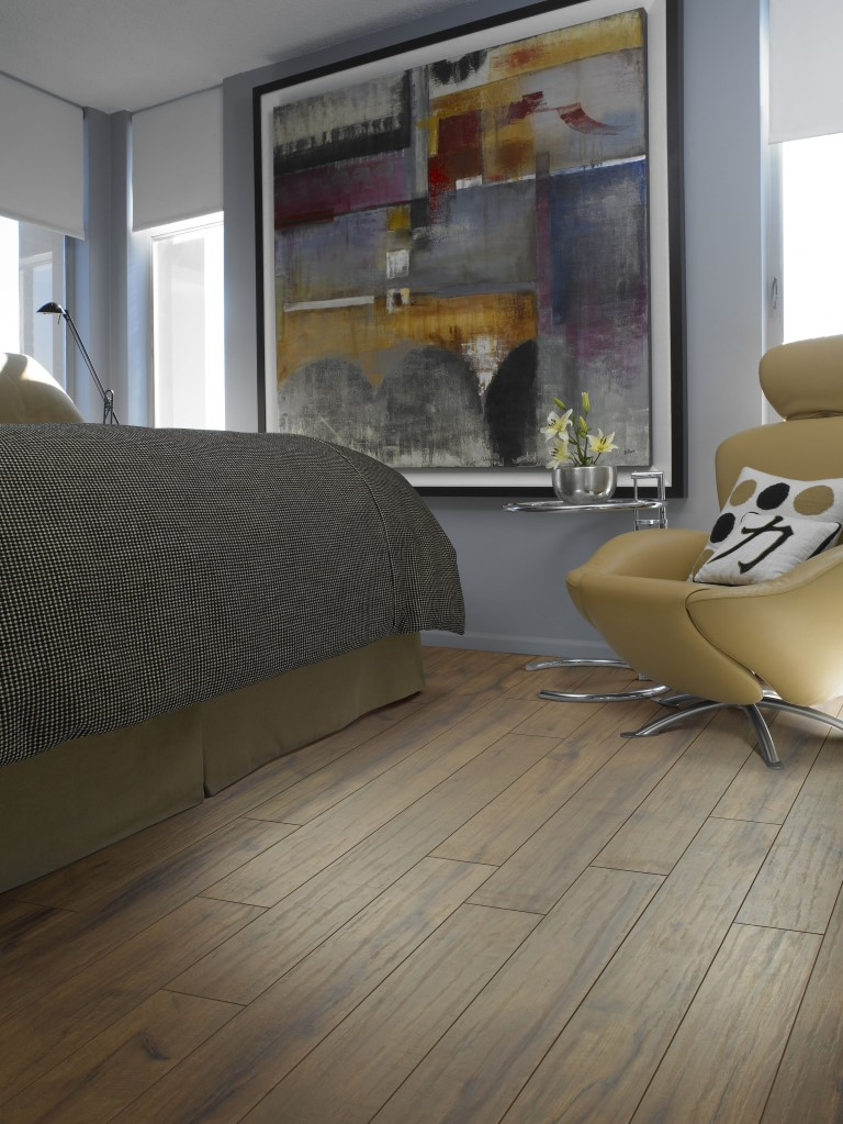 Wood vinyl plank flooring in Aurora, IL